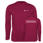 Performance Maroon Longsleeve Shirt-Manufacturing and Material Distribution
