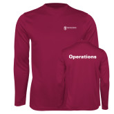 Performance Maroon Longsleeve Shirt-Operations