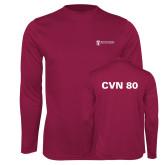 Performance Maroon Longsleeve Shirt-CVN 80 and 81