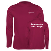 Performance Maroon Longsleeve Shirt-Engineering and Design