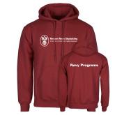 Cardinal Fleece Hoodie-Navy Programs