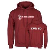 Cardinal Fleece Hoodie-CVN 80 and 81