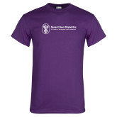 Purple T Shirt-Newport News Shipbuilding