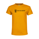 Youth Gold T Shirt-Newport News Shipbuilding