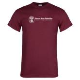 Maroon T Shirt-Newport News Shipbuilding