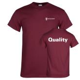 Maroon T Shirt-Quality