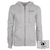 ENZA Ladies Grey Fleece Full Zip Hoodie-NNS IT