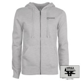 ENZA Ladies Grey Fleece Full Zip Hoodie-HR & A