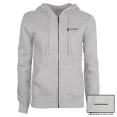 ENZA Ladies Grey Fleece Full Zip Hoodie-Comms