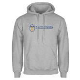 Grey Fleece Hoodie-Newport News Shipbuilding
