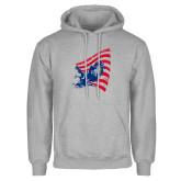 Grey Fleece Hoodie-NNS Flag