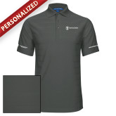 Charcoal Horizontal Textured Polo-Business Management