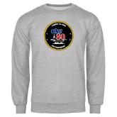 Grey Fleece Crew-CVN 80