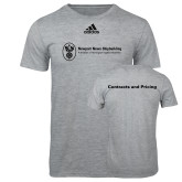 Adidas Sport Grey Logo T Shirt-Contracts and Pricing