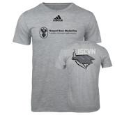 Adidas Sport Grey Logo T Shirt-ISCVN