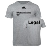 Adidas Sport Grey Logo T Shirt-Legal