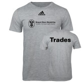 Adidas Sport Grey Logo T Shirt-Trades