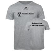 Adidas Sport Grey Logo T Shirt-Submarine Construction