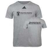 Adidas Sport Grey Logo T Shirt-Manufacturing and Material Distribution