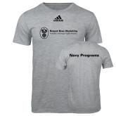 Adidas Sport Grey Logo T Shirt-Navy Programs