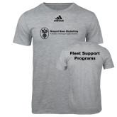 Adidas Sport Grey Logo T Shirt-Fleet Support Programs