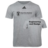 Adidas Sport Grey Logo T Shirt-Engineering and Design