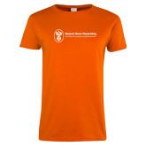 Ladies Orange T Shirt-Newport News Shipbuilding