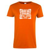 Ladies Orange T Shirt-NNS Vintage