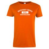 Ladies Orange T Shirt-NNS College Design