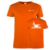 Ladies Orange T Shirt-Programs Division