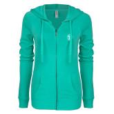 ENZA Ladies Seaglass Light Weight Fleece Full Zip Hoodie-Icon