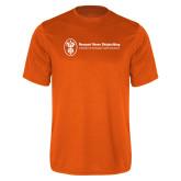 Performance Orange Tee-Newport News Shipbuilding