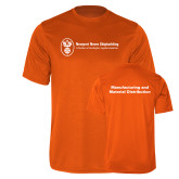 Performance Orange Tee-Manufacturing and Material Distribution