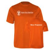 Performance Orange Tee-Navy Programs