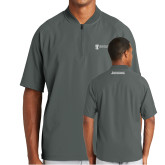 New Era Charcoal Cage Short Sleeve 1/4 Zip-Manufacturing and Material Distribution