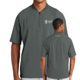 New Era Charcoal Cage Short Sleeve 1/4 Zip-Navy Programs