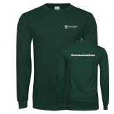 Dark Green Long Sleeve T Shirt-Comms