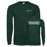 Dark Green Long Sleeve T Shirt-Information Technology
