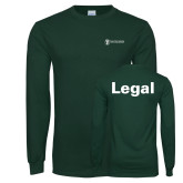 Dark Green Long Sleeve T Shirt-Legal
