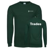 Dark Green Long Sleeve T Shirt-Trades