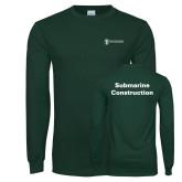 Dark Green Long Sleeve T Shirt-Submarine Construction