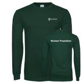 Dark Green Long Sleeve T Shirt-Nuclear Propulsion