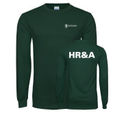 Dark Green Long Sleeve T Shirt-HR and A
