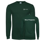 Dark Green Long Sleeve T Shirt-Navy Programs