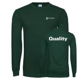 Dark Green Long Sleeve T Shirt-Quality