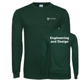 Dark Green Long Sleeve T Shirt-Engineering and Design