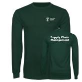 Dark Green Long Sleeve T Shirt-Strategic Sourcing