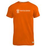 Russell Orange Essential T Shirt-Newport News Shipbuilding
