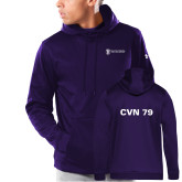 Under Armour Purple Armour Fleece Hoodie-CVN 79