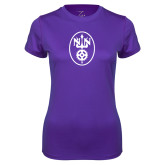 Ladies Syntrel Performance Purple Tee-Icon
